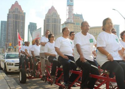 Mississauga citizens use custom T-shirrt for bike ride