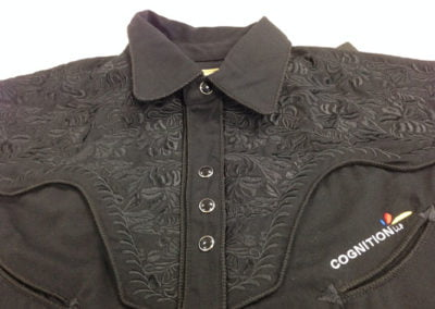 Unique embroidered shirt with collar for men