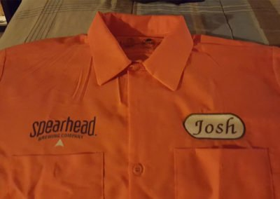 Embroidered shirt for Mississauga mechanic