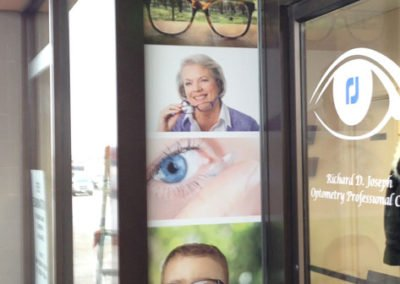 Optometrist signage made at Instant Imprints Mississauga