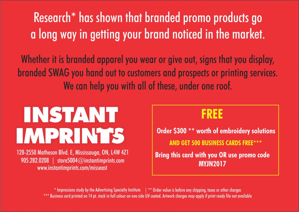 Instant Imprints - Mississauga East Promo